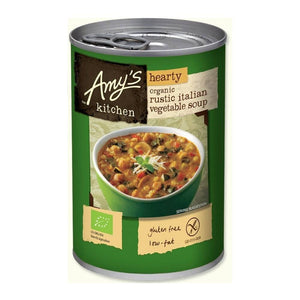 Amy's Kitchen Organic Hearty Rustic Italian Soup 397g - Shipping From Just £2.99 Or FREE When You Spend £55 Or More