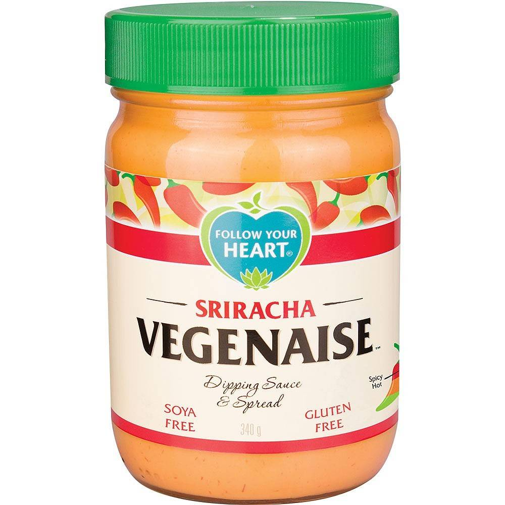 Follow Your Heart Sriracha Vegenaise 340g - Shipping From Just £2.99 Or FREE When You Spend £55 Or More