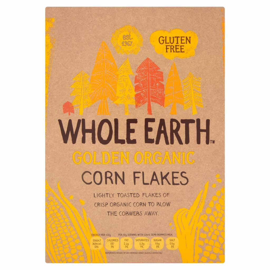 Whole Earth ORG Classic Cornflakes - 375g - Shipping From Just £2.99 Or FREE When You Spend £60 Or More