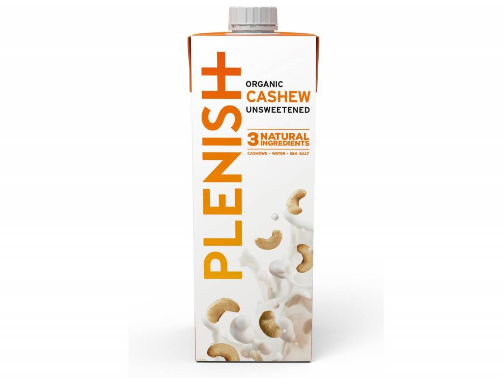Plenish ORG Ambient Cashew M*lk 5% 1ltr - Shipping From Just £2.99 Or FREE When You Spend £60 Or More
