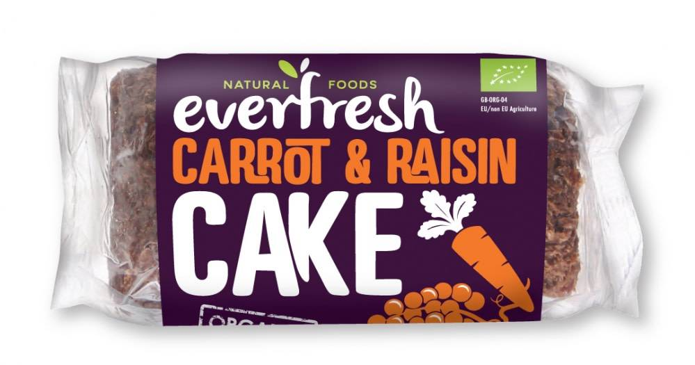Everfresh Carrot Cake With Raisins 400g - Shipping From Just £2.99 Or FREE When You Spend £60 Or More