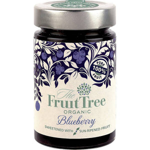 The Fruit Tree Organic Blueberry Spread 250g - Shipping From Just £2.99 Or FREE When You Spend £55 Or More