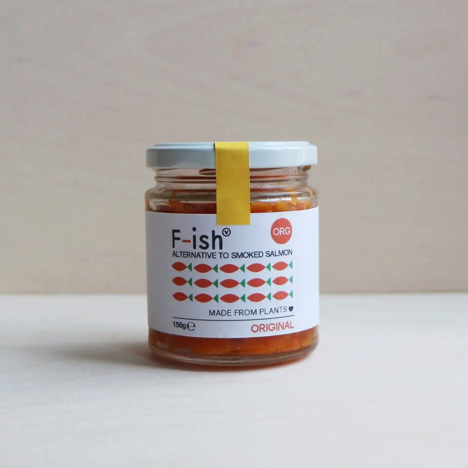 F-ish (Smoked Vegan Salmon) - The Original 150g - Shipping From Just £2.99 Or FREE When You Spend £55 Or More