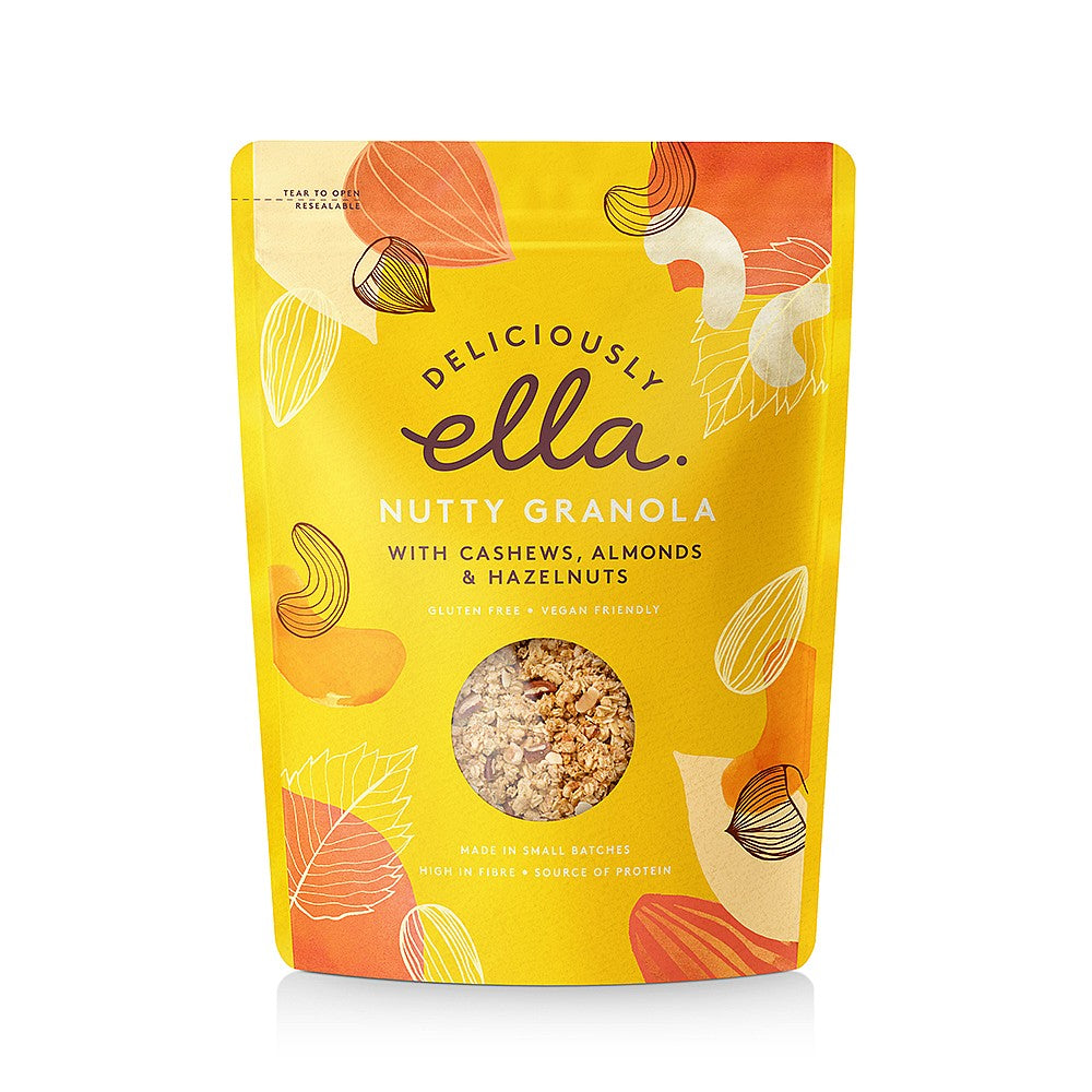 Deliciously Ella GF Nutty Granola 500g - Shipping From Just £2.99 Or FREE When You Spend £60 Or More