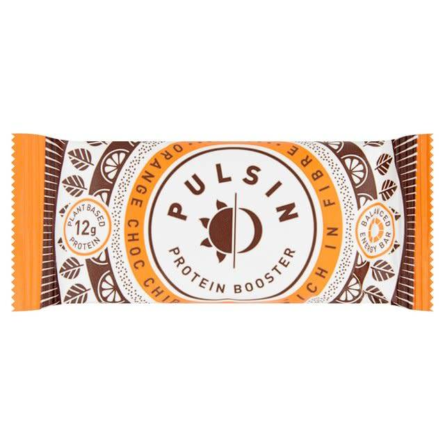 Pulsin' Orange Choc Chip Protein Bar 50g - Shipping From Just £2.99 Or FREE When You Spend £60 Or More