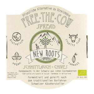 New Roots Free The Cow Spread Chives 130g - Shipping From Just £2.99 Or FREE When You Spend £60 Or More