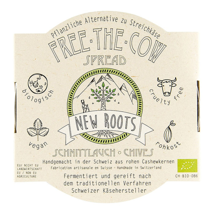 New Roots Free The Cow Spread Chives 130g