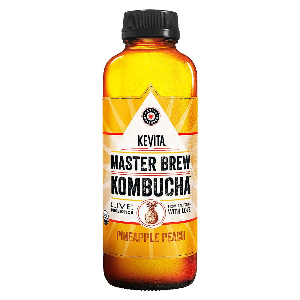 KeVita Pineapple Peach Kombucha 450ml - Shipping From Just £2.99 Or FREE When You Spend £60 Or More