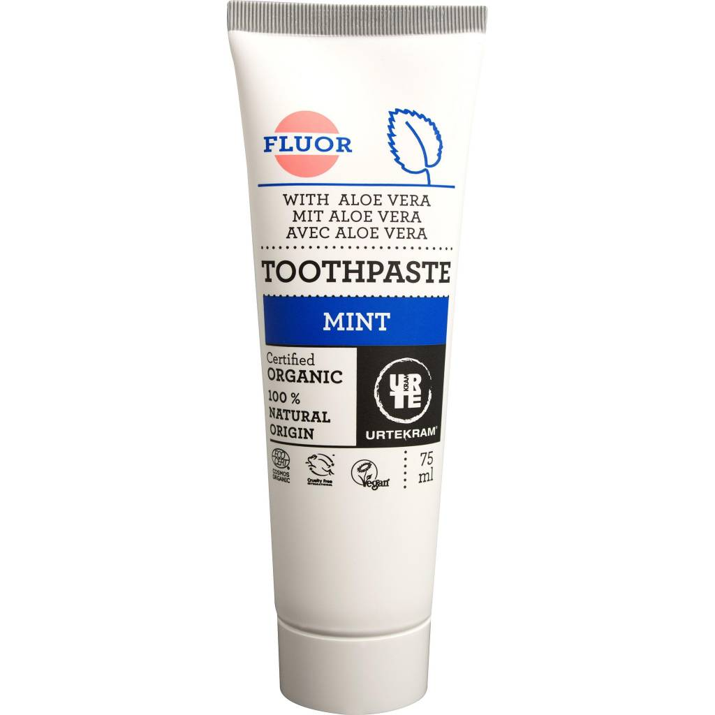 Urtekram Mint Fluoride Toothpaste 75ml - Shipping From Just £2.99 Or FREE When You Spend £55 Or More
