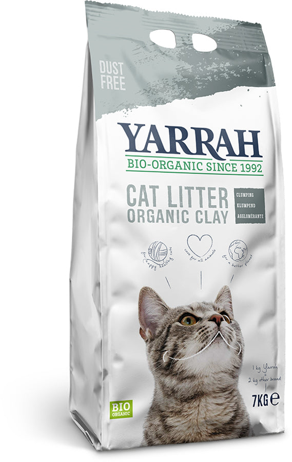 Yarrah Organic Clumping Clay Cat Litter 7kg