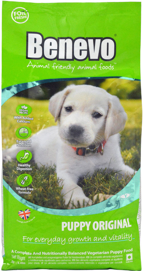 Benevo Original Vegan Puppy Food - 2kg - Shipping From Just £2.99 Or FREE When You Spend £60 Or More