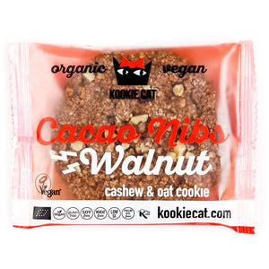 Kookie Cat ORG GF Cacao Nibs & Walnut Cookies 50g