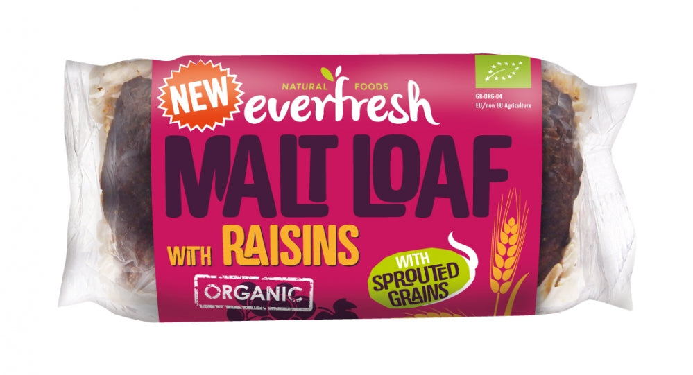 Everfresh Organic Malted Raisin Loaf - 290g - Shipping From Just £2.99 Or FREE When You Spend £55 Or More