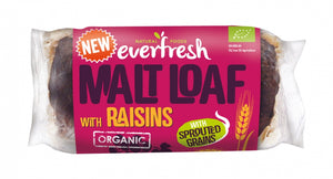 Everfresh Organic Malted Raisin Loaf - 290g - Shipping From Just £2.99 Or FREE When You Spend £60 Or More