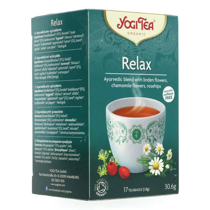 Yogi Tea Relax - 17 bags - Shipping From Just £2.99 Or FREE When You Spend £55 Or More