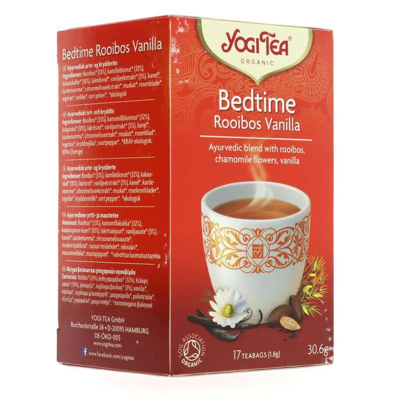 Yogi Tea Bedtime Rooibos Vanilla - 17 bags - Shipping From Just £2.99 Or FREE When You Spend £60 Or More