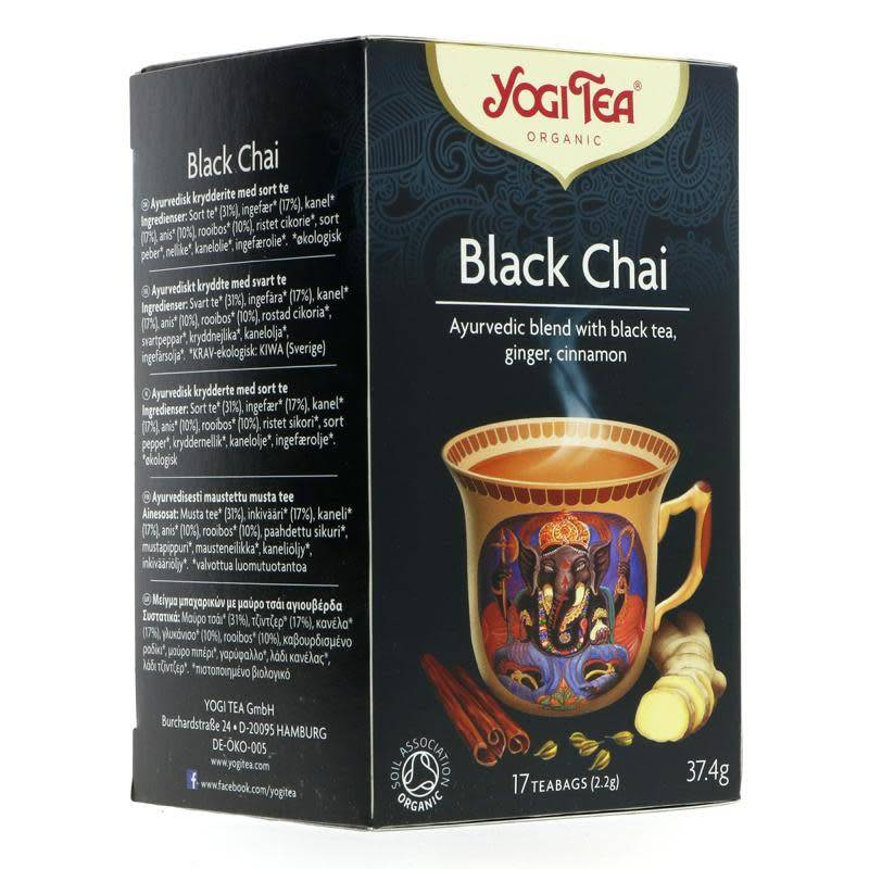 Yogi Tea Black Chai - 17 bags - Shipping From Just £2.99 Or FREE When You Spend £60 Or More