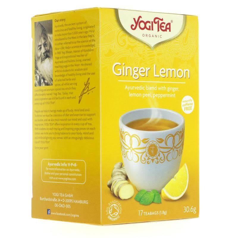 Yogi Tea Ginger Lemon 17 bags