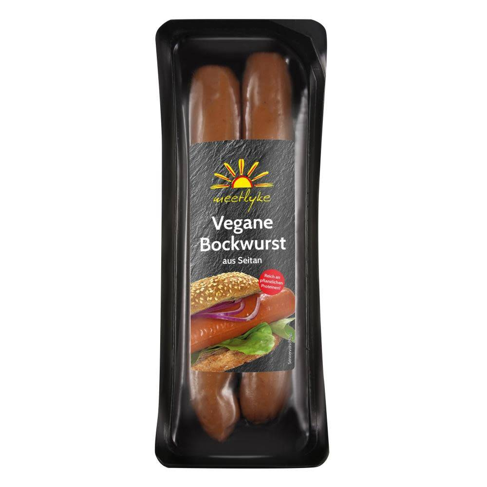 Meetlyke Bockwurst Sausages 200g - Shipping From Just £2.99 Or FREE When You Spend £60 Or More