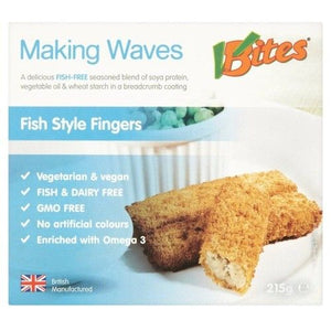 V Bites Fish Style Fingers - 215g BBE 05/02/20 - Shipping From Just £2.99 Or FREE When You Spend £60 Or More
