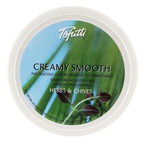 Tofutti Creamy Smooth - Herb & Chives 8oz - Shipping From Just £2.99 Or FREE When You Spend £60 Or More