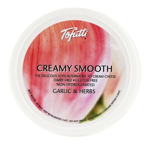 Tofutti Creamy Smooth - Garlic & Herb 8oz - Shipping From Just £2.99 Or FREE When You Spend £60 Or More