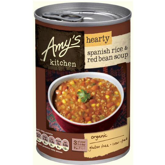 Amys Organic Spanish Rice & Red Bean Soup 416g - Shipping From Just £2.99 Or FREE When You Spend £55 Or More