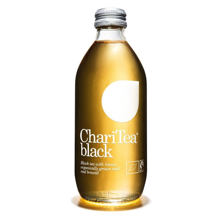 ChariTea Black Iced Black Tea with Lemon 330ml - Shipping From Just £2.99 Or FREE When You Spend £55 Or More