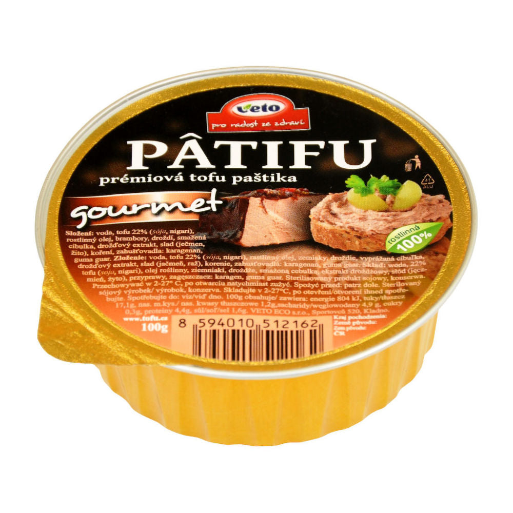 Patifu Tofu Pate Gourmet 100g - Shipping From Just £2.99 Or FREE When You Spend £60 Or More