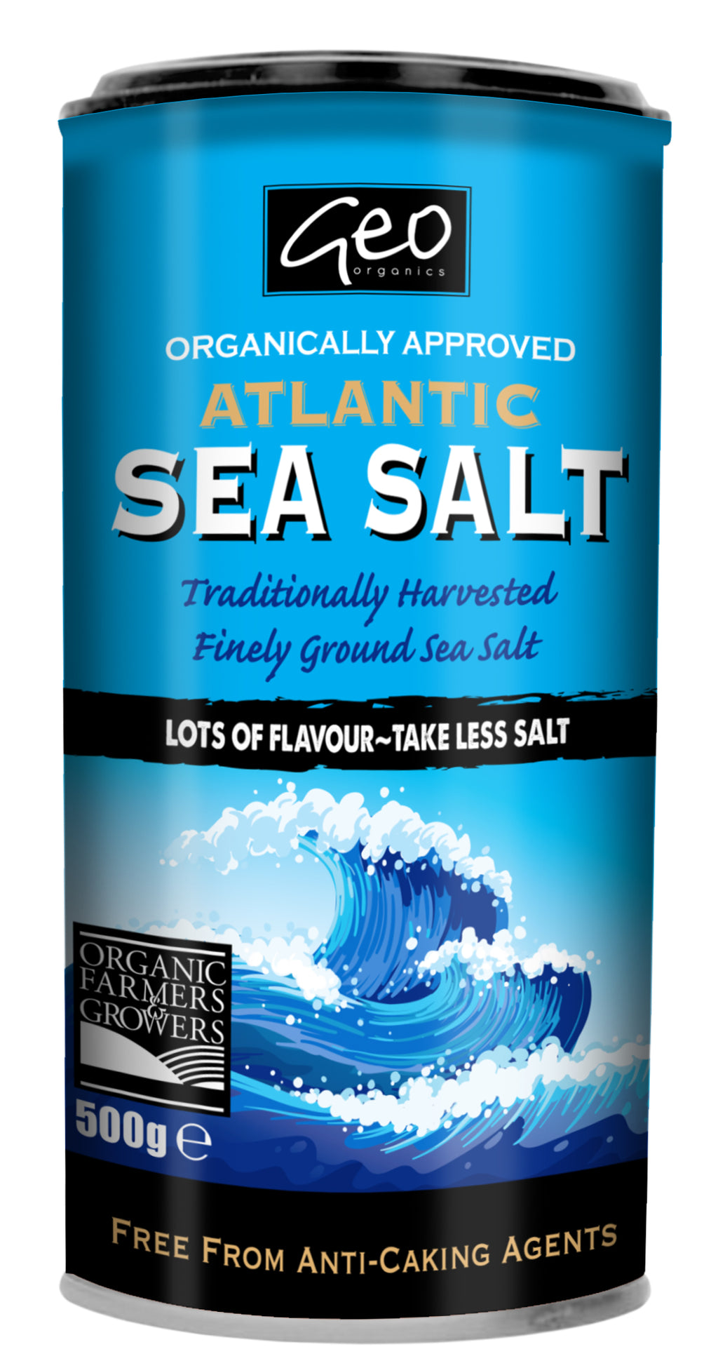 Organically Approved Atlantic Sea Salt Shaker - 500g - Shipping From Just £2.99 Or FREE When You Spend £55 Or More