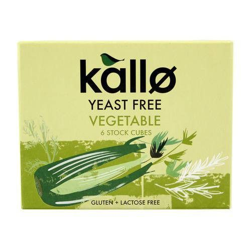 Kallo Yeast Free Vegetable Stock Cubes 60g - Shipping From Just £2.99 Or FREE When You Spend £55 Or More