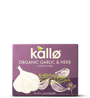Organic Garlic & Herb Stock Cubes 66g - Shipping From Just £2.99 Or FREE When You Spend £55 Or More