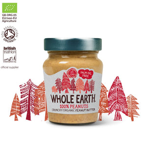 Whole Earth 100% Peanut Butter 227g - Shipping From Just £2.99 Or FREE When You Spend £60 Or More