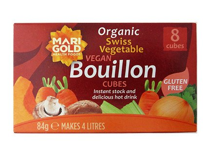 Marigold Organic Bouillon Cube Regular 84g - Shipping From Just £2.99 Or FREE When You Spend £55 Or More