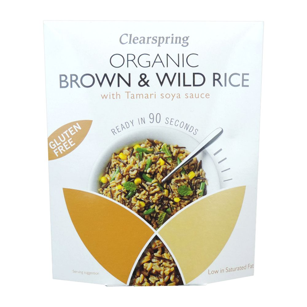 ClearSpring  Organic Gluten Free 90sec Brown & Wild Rice