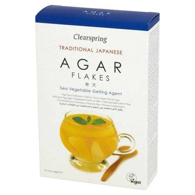 Clearspring Agar Flakes - 28g - Shipping From Just £2.99 Or FREE When You Spend £60 Or More