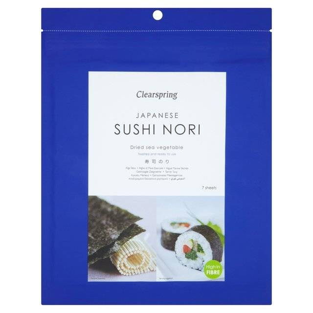 Clearspring Nori 10 Sheets 25g - Shipping From Just £2.99 Or FREE When You Spend £55 Or More