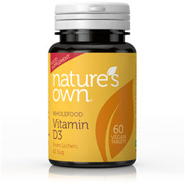 Nature's Own Vegan D3 2500iu 60 Tablets - Shipping From Just £2.99 Or FREE When You Spend £60 Or More