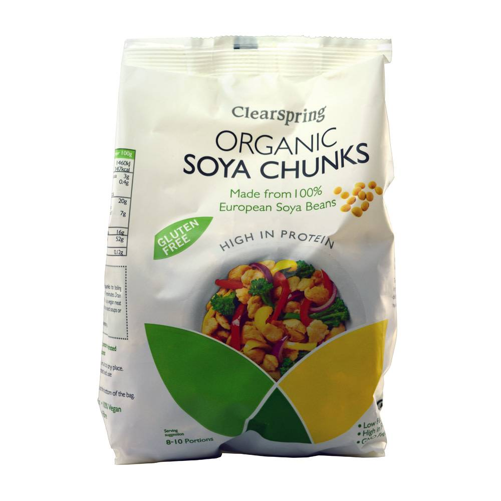 Clearspring Organic Soya Chunks 200g - Shipping From Just £2.99 Or FREE When You Spend £55 Or More