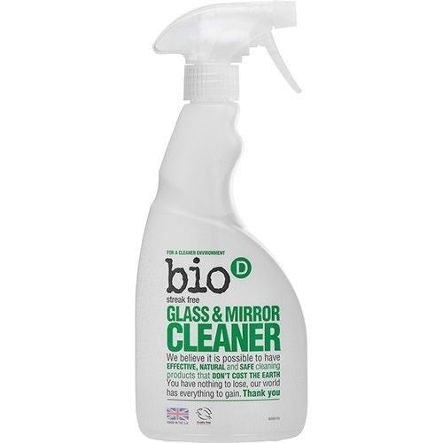 Bio-D Glass & Mirror Spray - 500ml - Shipping From Just £2.99 Or FREE When You Spend £60 Or More