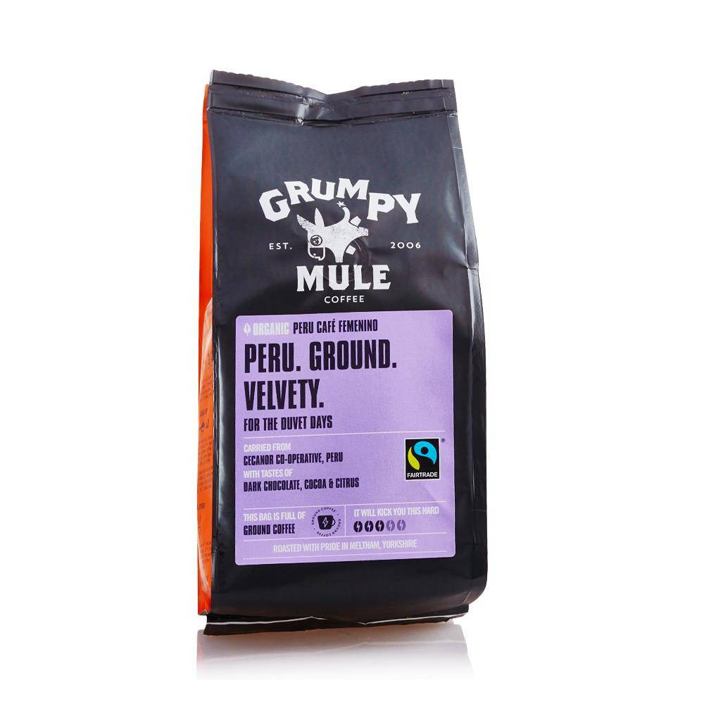 Grumpy Mule Peru Cafe Femenino 227g - Shipping From Just £2.99 Or FREE When You Spend £60 Or More