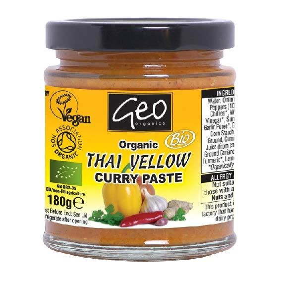 Organic Thai Yellow Curry Paste 180g - Shipping From Just £2.99 Or FREE When You Spend £60 Or More