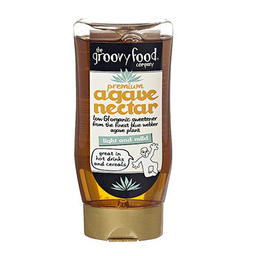 The Groovy Food Company Premium Agave Nectar Light & Mild 250ml - Shipping From Just £2.99 Or FREE When You Spend £60 Or More