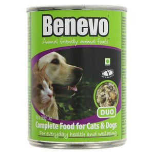 Benevo Duo - Cat & Dog Food - 369g - Shipping From Just £2.99 Or FREE When You Spend £60 Or More