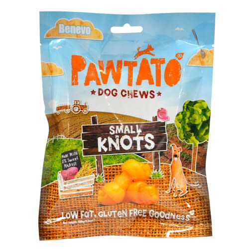 Benevo Pawtato Knots Dog Chews - 150g - Shipping From Just £2.99 Or FREE When You Spend £60 Or More
