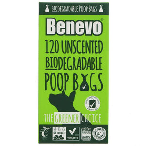 Benevo 120 Biodegradable Poo Bags - 125g - Shipping From Just £2.99 Or FREE When You Spend £60 Or More