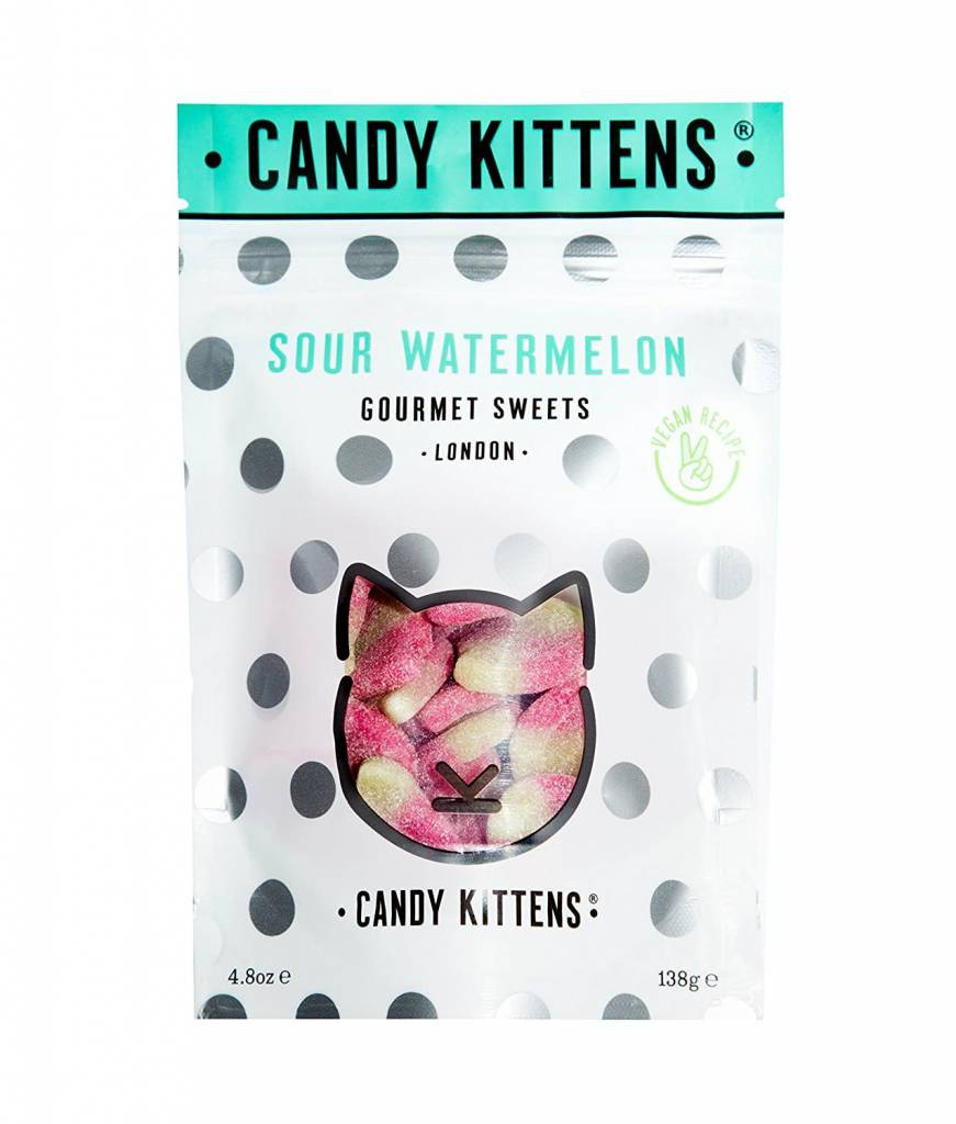 Candy Kittens Sour Watermelon - 138g - Shipping From Just £2.99 Or FREE When You Spend £60 Or More