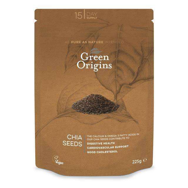 Green Origins Chia Seeds 225g - Shipping From Just £2.99 Or FREE When You Spend £55 Or More