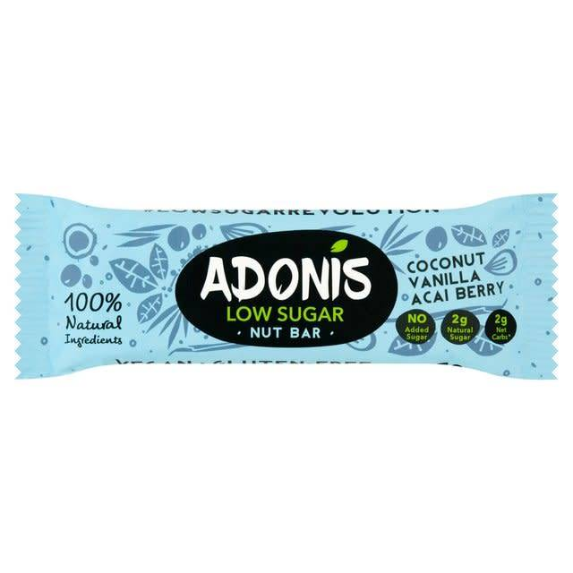 Adonis Natural Low Sugar Vanilla Nut Bar 35g