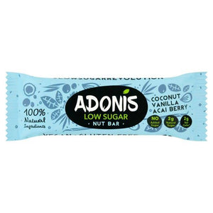 Adonis Natural Low Sugar Vanilla Nut Bar 35g - Shipping From Just £2.99 Or FREE When You Spend £55 Or More